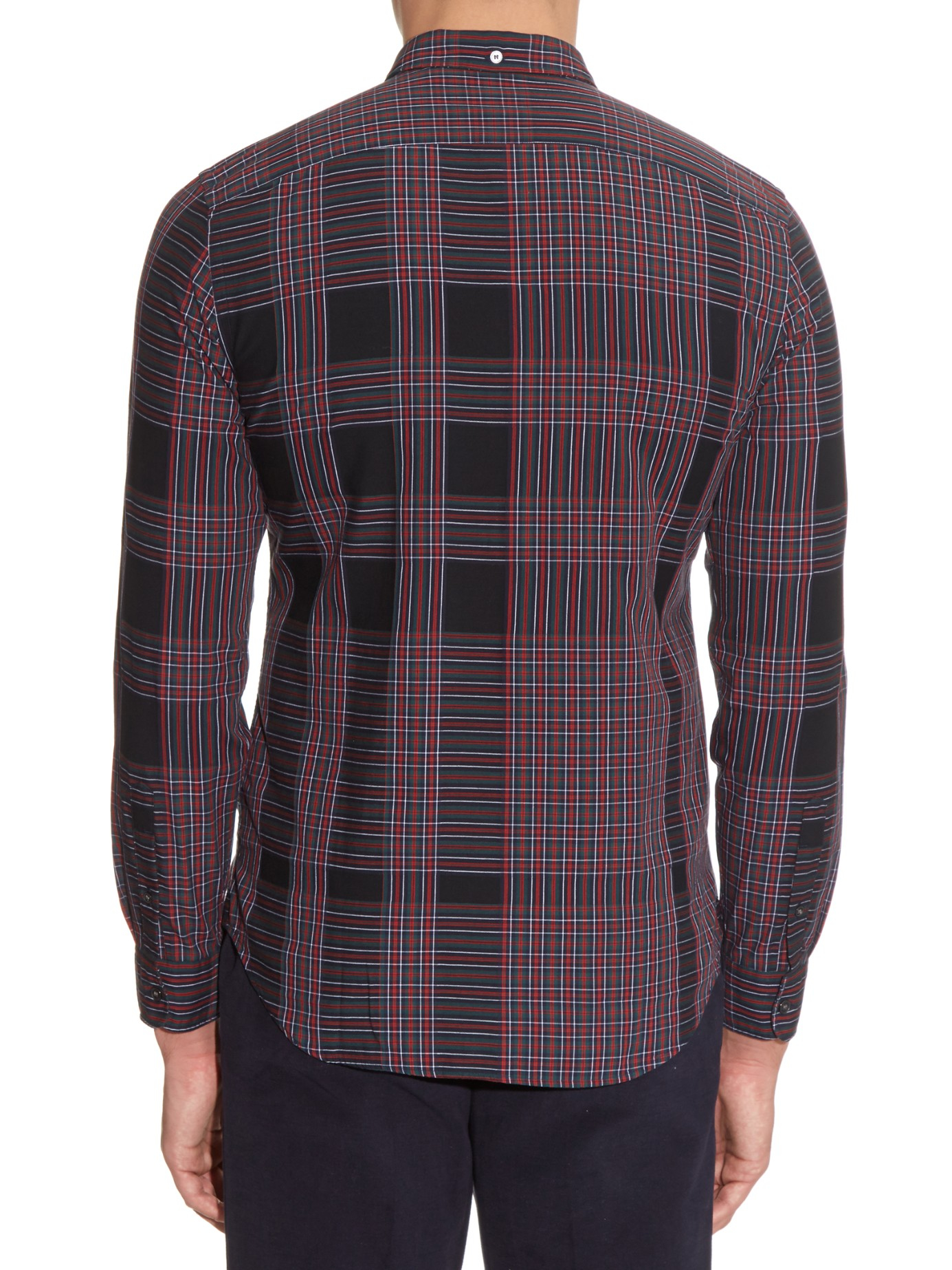 Burberry brit belgrave checked long sleeved shirt in black for Burberry brit checked shirt