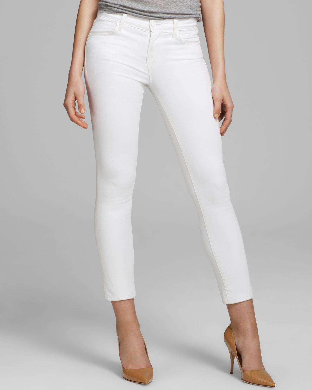 13ac7435625ba J Brand Jeans - Mid Rise Crop Rail In Blanc in White - Lyst