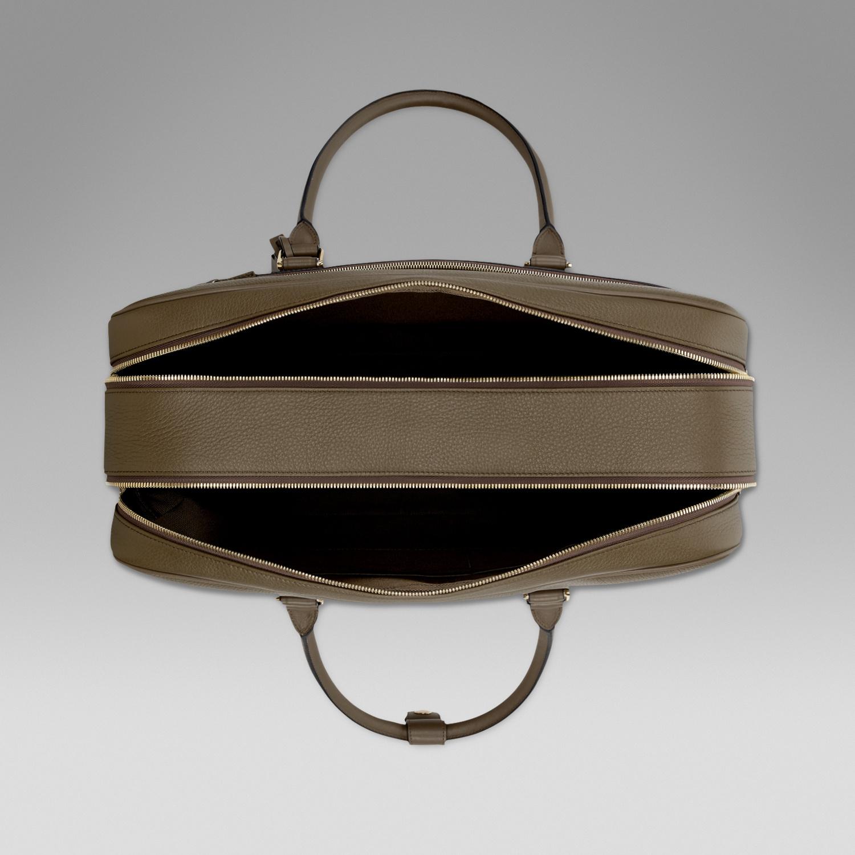 Smythson 24 Hour Travel Bag in Khaki (Natural) for Men - Lyst