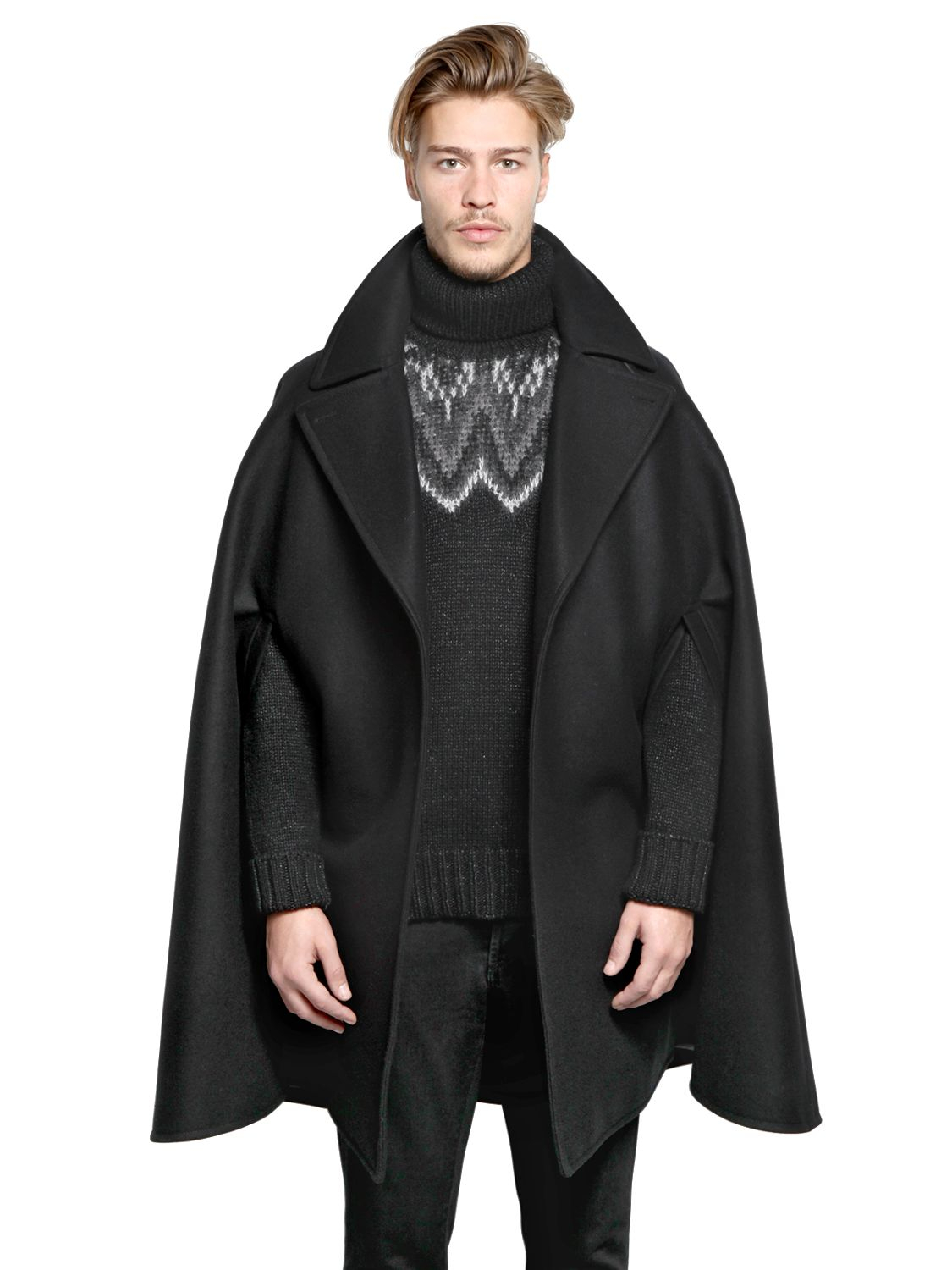 Givenchy Wool Cape Coat