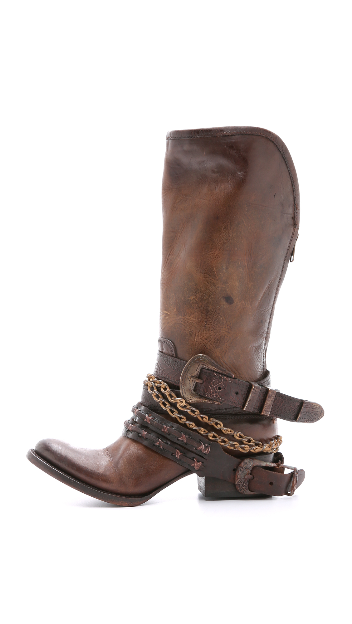 Zip Line Harness >> Freebird by Steven Knox Harness Tall Boots - Brown - Lyst