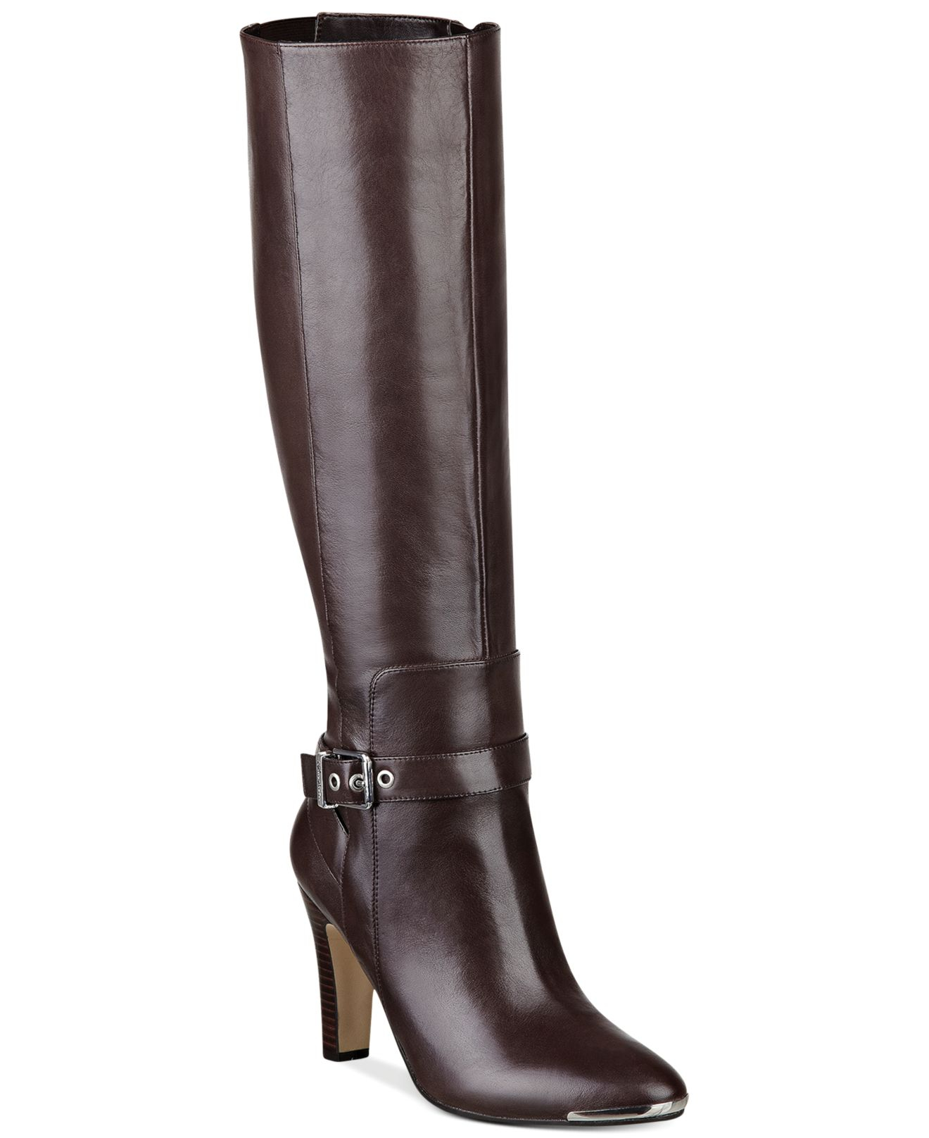 marc fisher ibis dress boots in brown brown