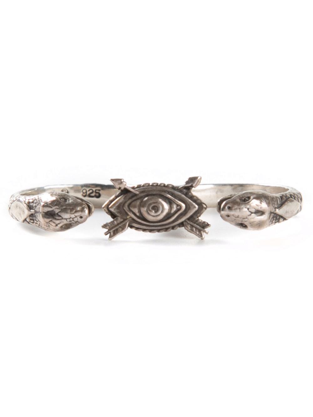 Pamela Love Duel Double Finger Ring in Metallic
