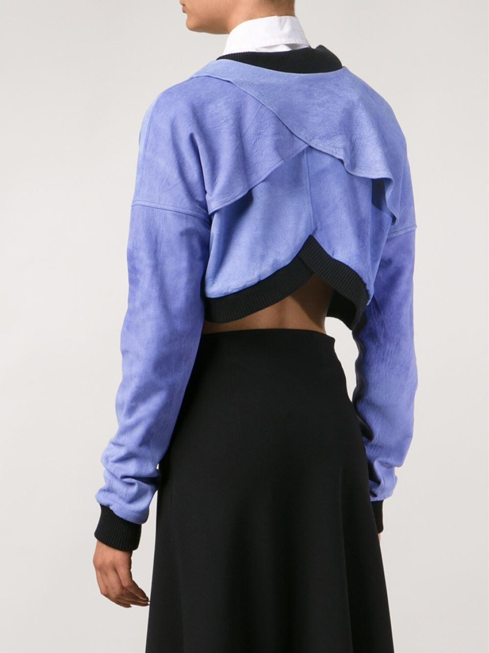 Odd. Ødd. Cropped Jacket in Blue