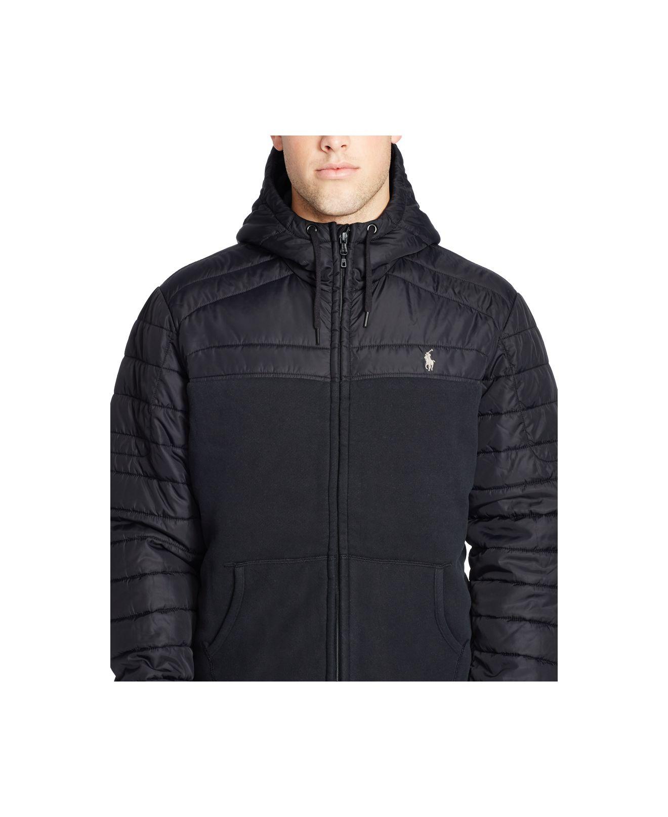 Polo Black Men For Ralph Quilted Fleece Lauren Hoodie CrBodxe