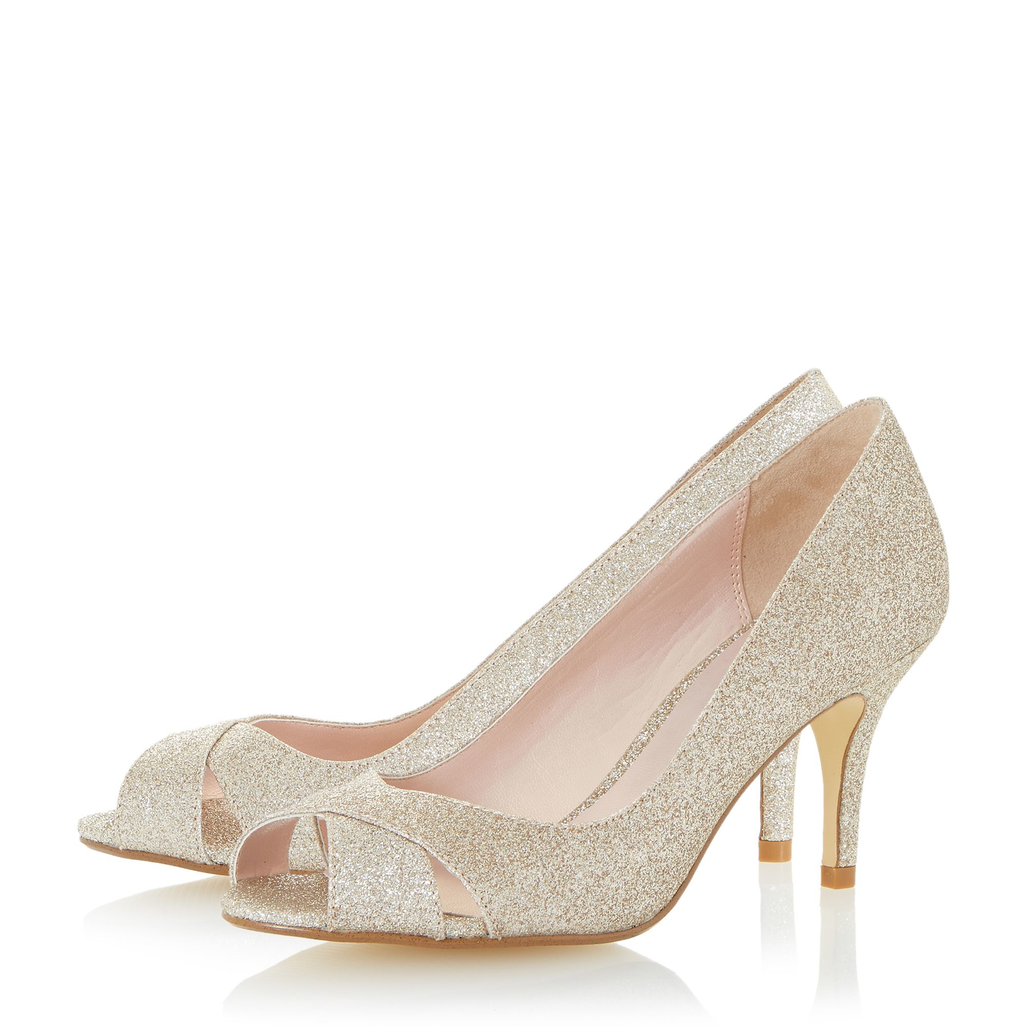 Womens Gold Peep Toe Shoes For Sale