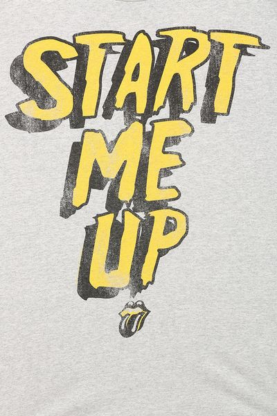 Urban Outfitters Rolling Stones Start Me Up Tee In White