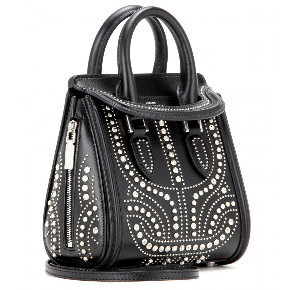 Alexander mcqueen Mini Heroine Studded Leather Shoulder ...