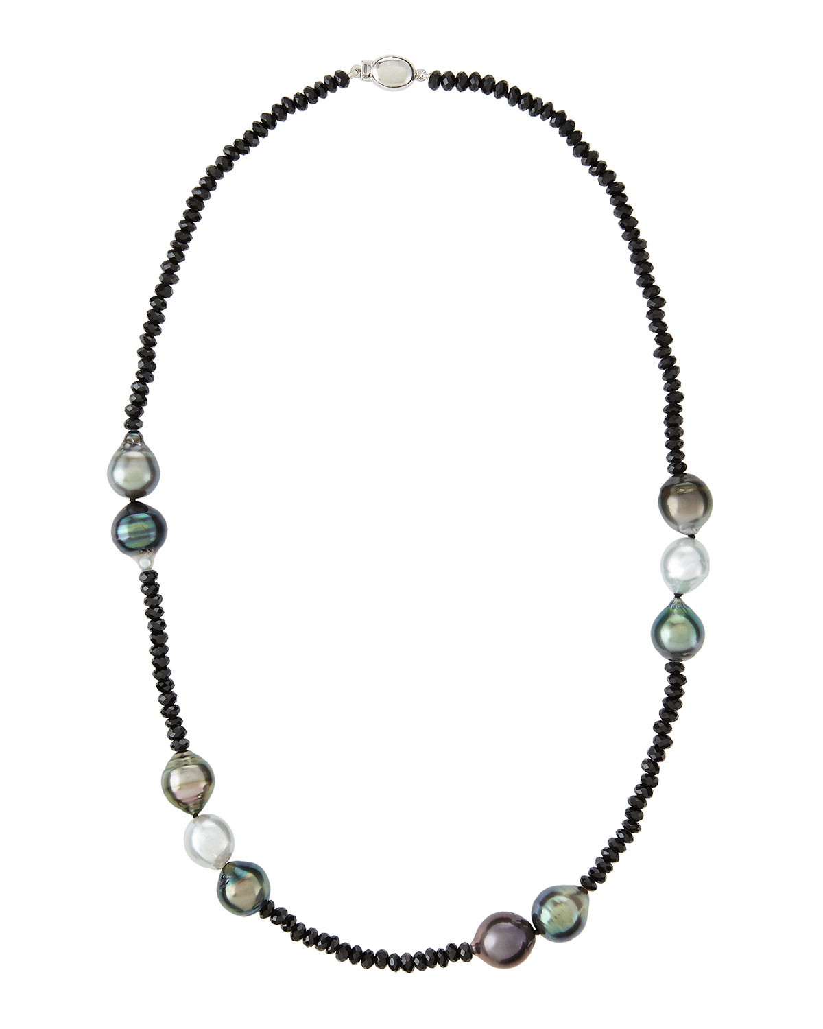 Belpearl 14k Tahitian Pearl & Spinel Necklace 5g4hybPT