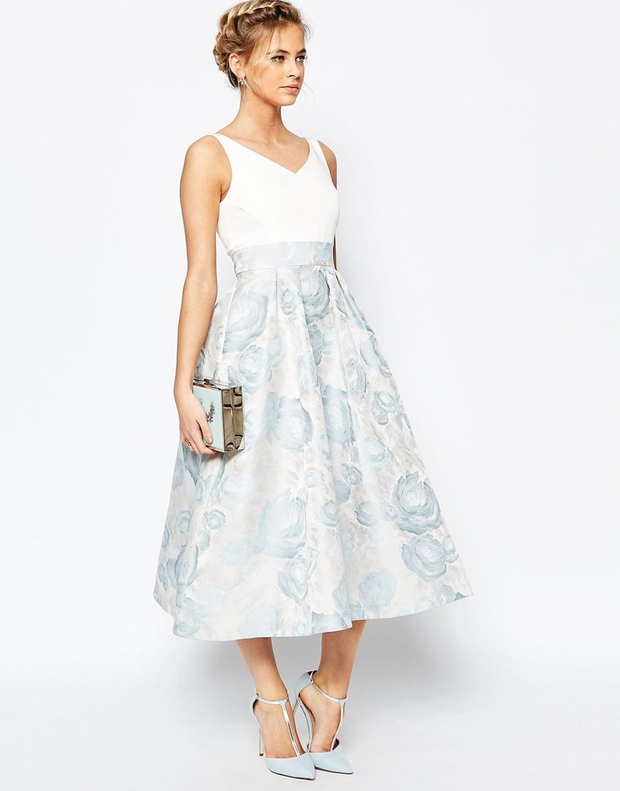 Coast Alessia Midi Dress In Pale Blue In Blue Lyst