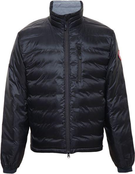 Canada Goose Lodge Puffa Jacket In Black Lyst