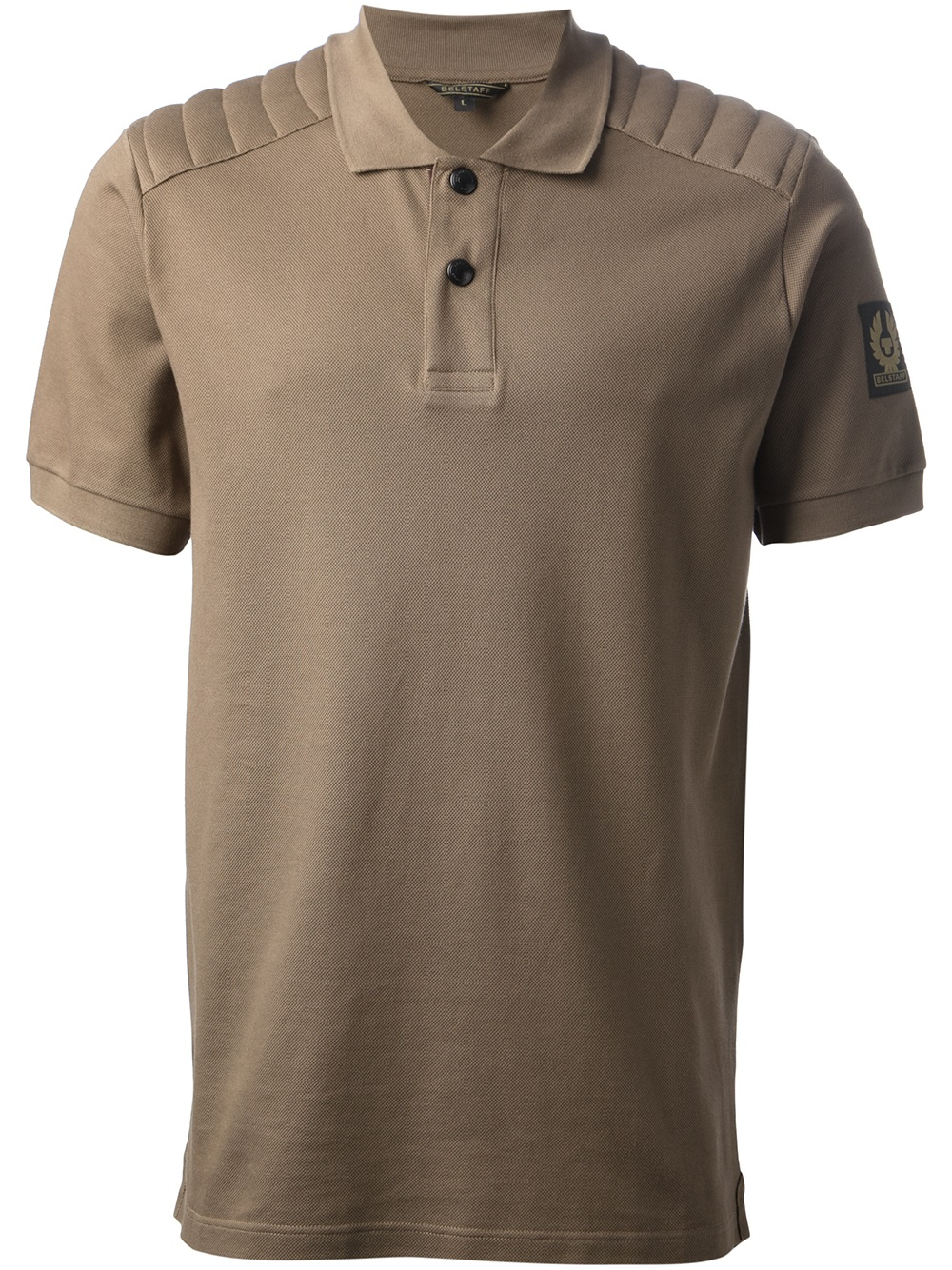 Belstaff Quilted Polo Shirt In Brown For Men Lyst