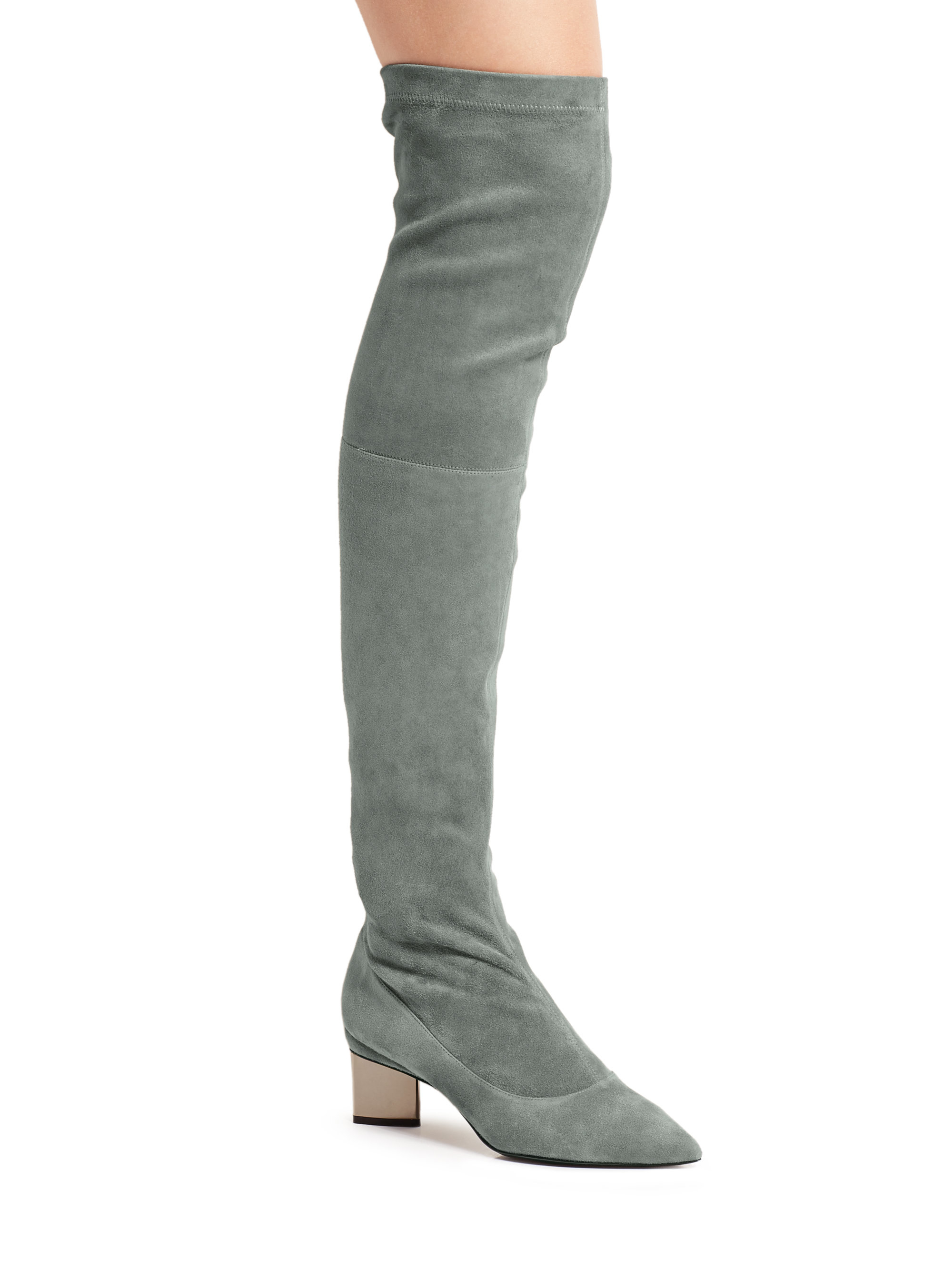 nicholas kirkwood stretch suede the knee boots in
