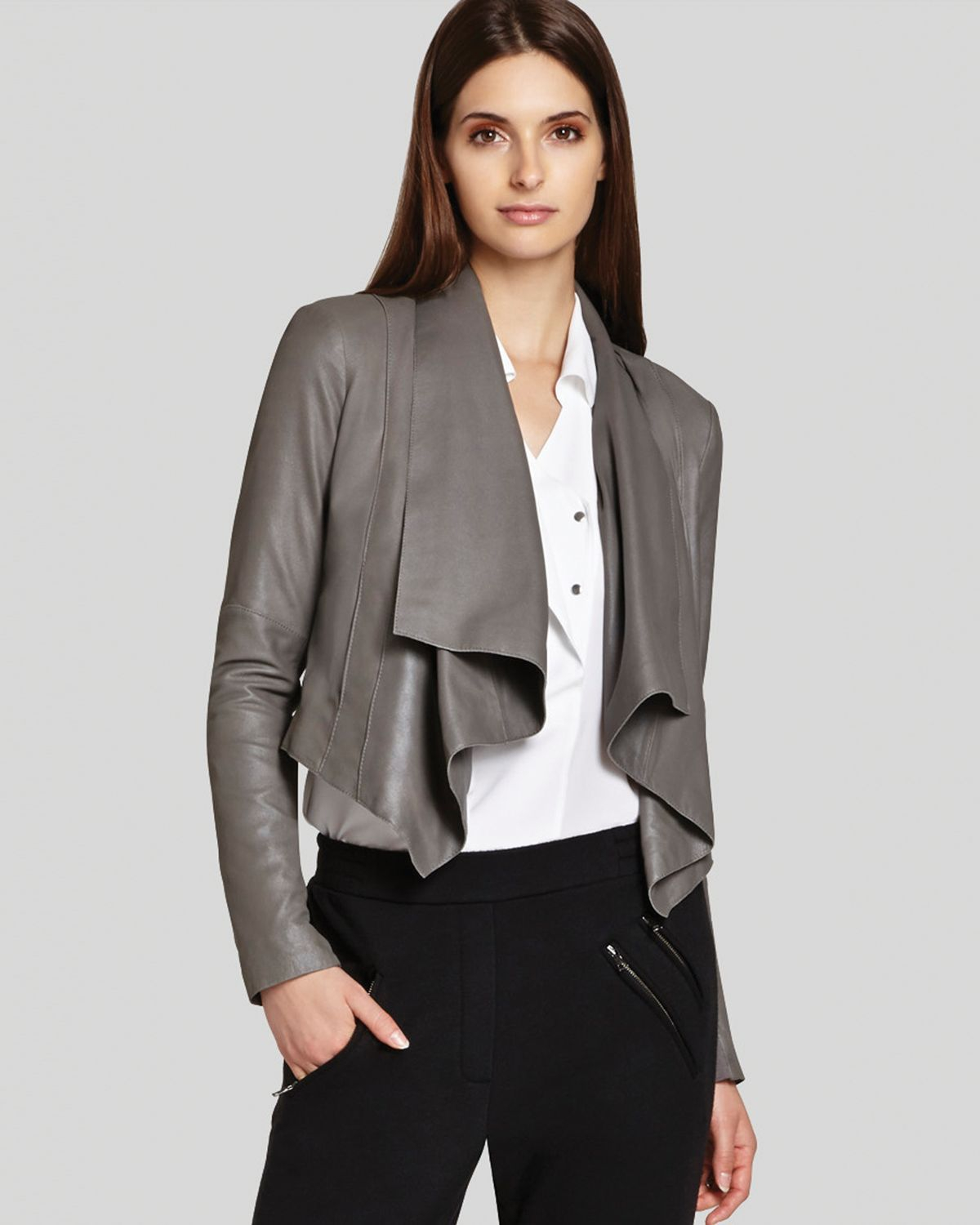 Max /& Lucas Womens Silver Vegan Leather Jacket