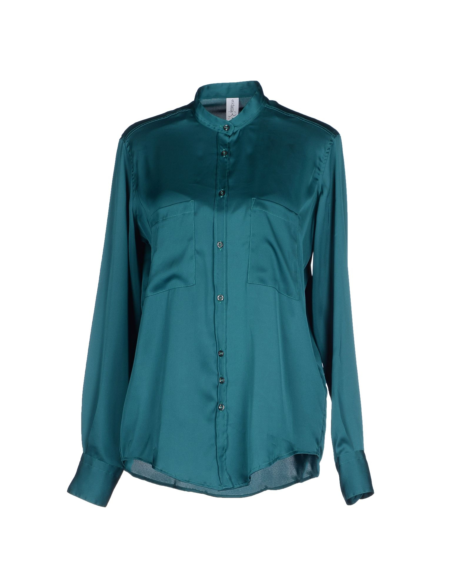 Etichetta 35 shirt in green emerald green lyst Emerald green mens dress shirt