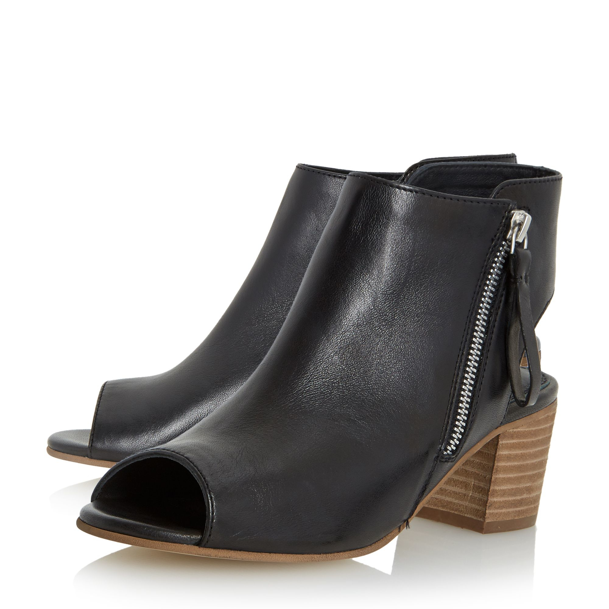 dune joselyn peep toe ankle boot sandals in black lyst