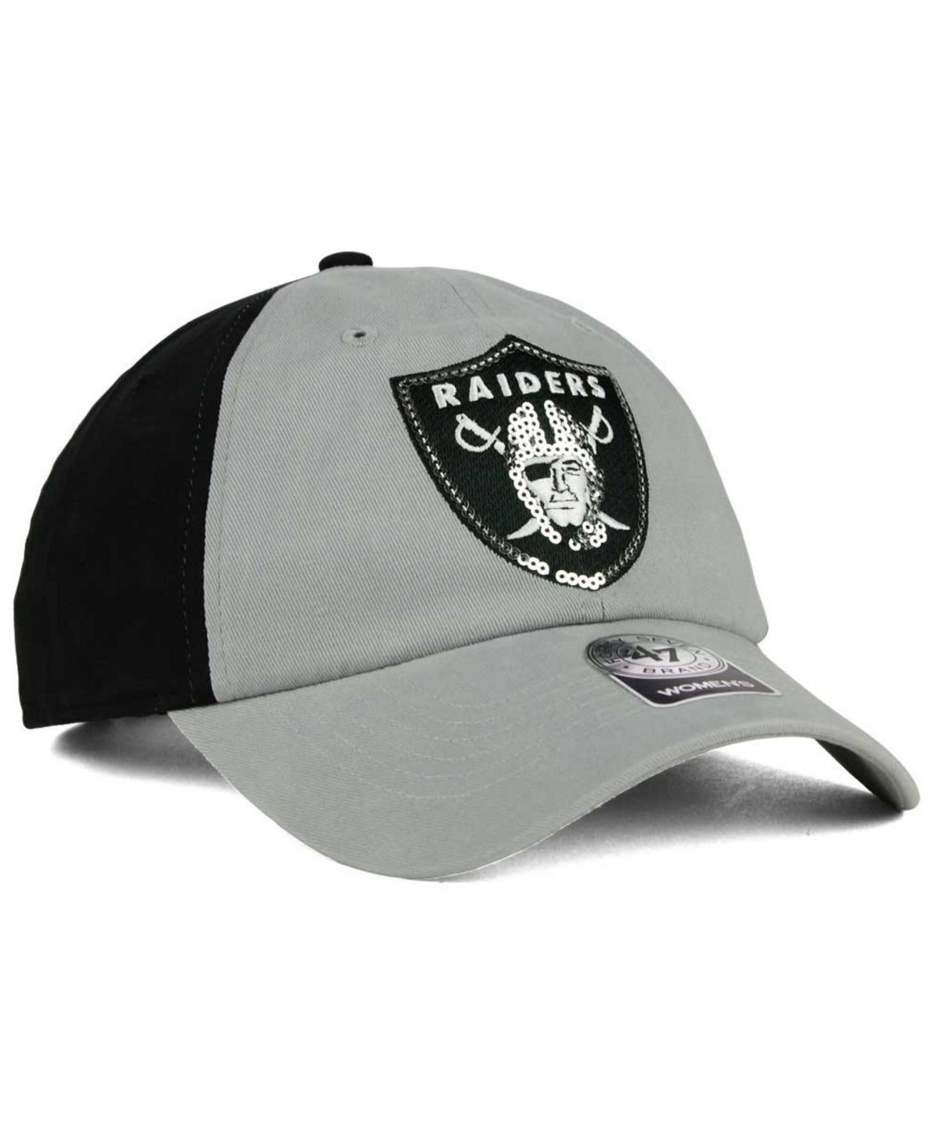 4d6850ab9 ... various design 460de 5de28 Lyst - 47 Brand Womens Oakland Raiders  Sparkle 2-tone Adjust ...