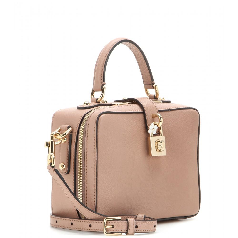 998fa628e4 Lyst - Dolce   Gabbana Rosaria Leather Shoulder Bag in Natural