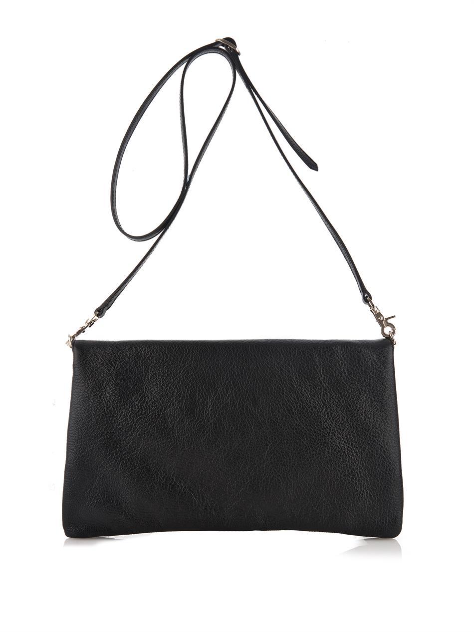 Balenciaga Classic Envelope Leather Cross-body Bag in Black