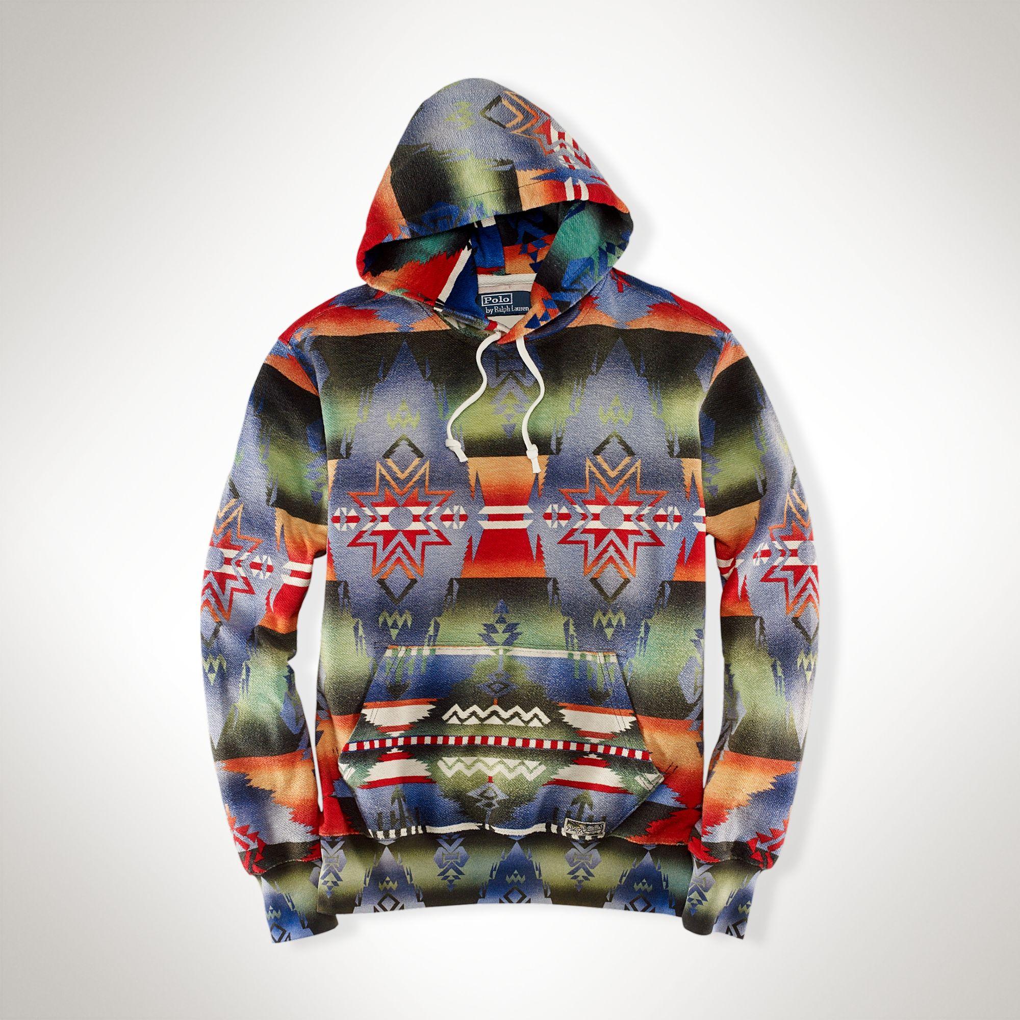 2f6317ec5 ... new arrivals polo ralph lauren southwestern fleece hoodie for men lyst  6012b da198 ...