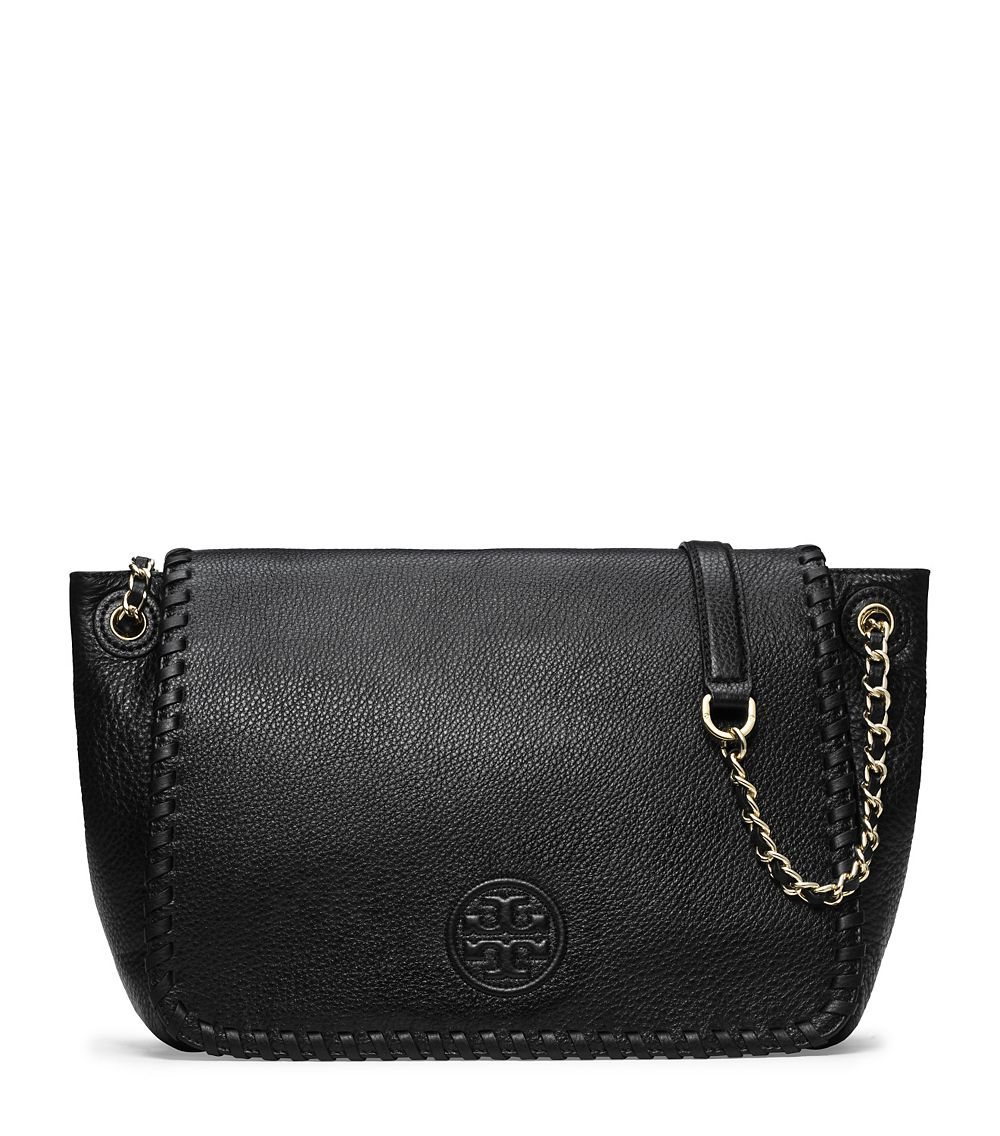 a3d3b1181cc Lyst - Tory Burch Marion Flap Shoulder Bag in Black