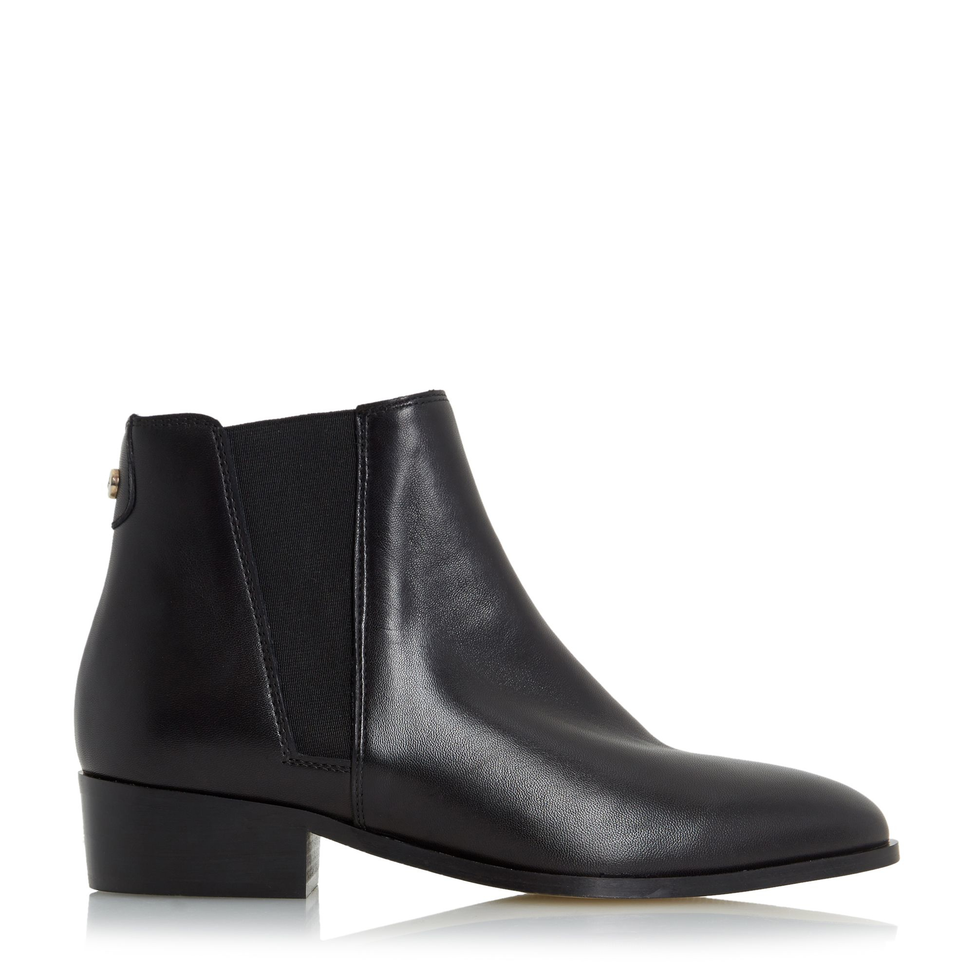 dune pearce pointed toe leather chelsea boots in black lyst