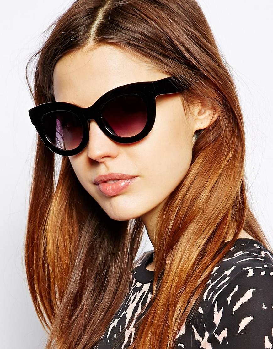 Cat Sunglasses Asos Black Chunky Eye HYW9E2DI