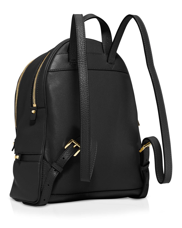 michael michael kors backpack rhea zip solid large in black lyst. Black Bedroom Furniture Sets. Home Design Ideas