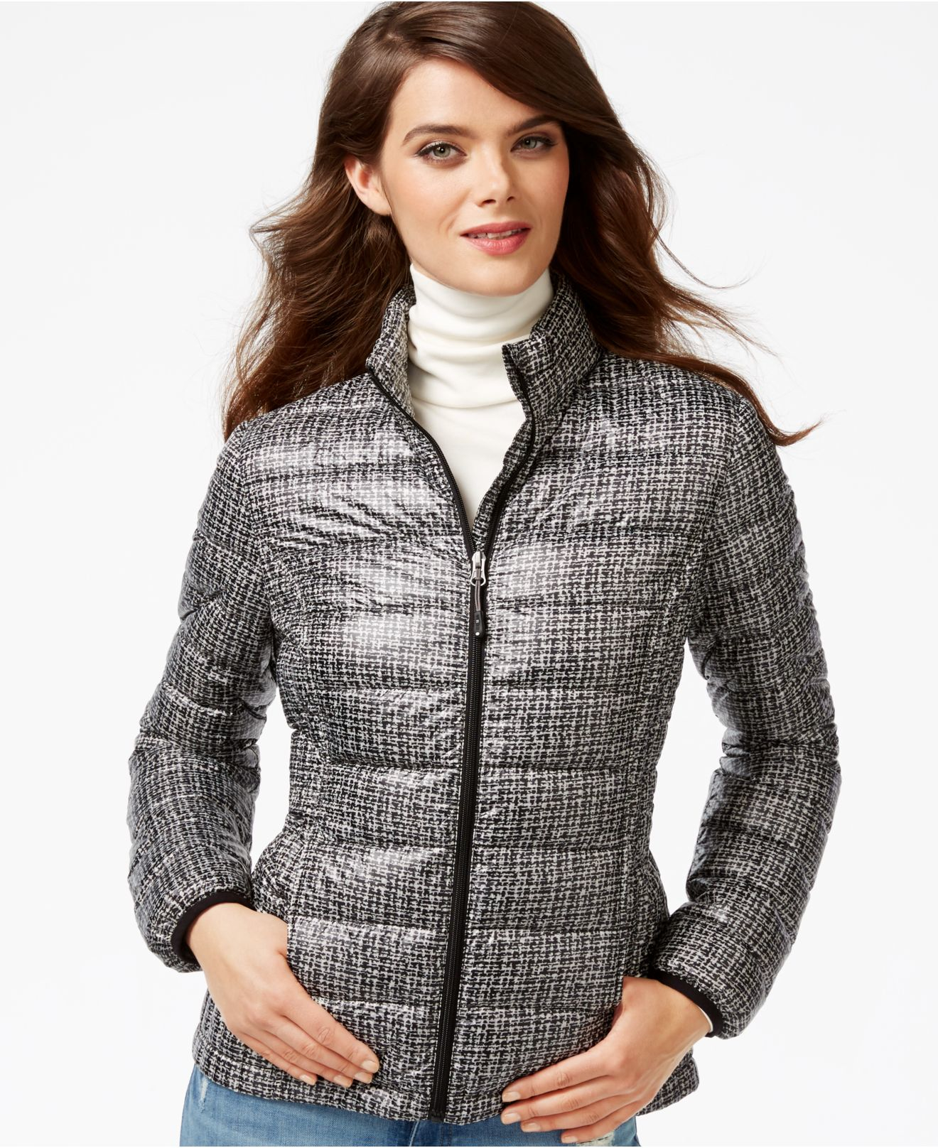 Lyst 32 Degrees Printed Packable Down Puffer Jacket In