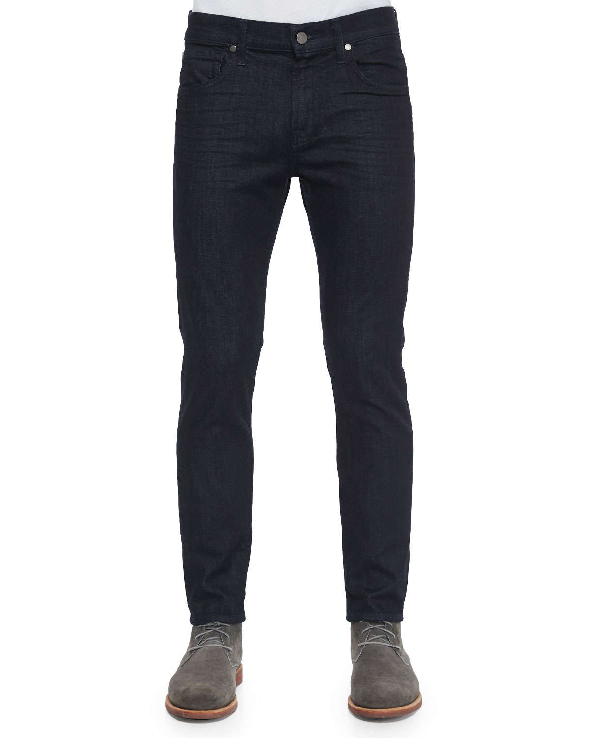 7 for all mankind paxtyn deep wells denim jeans in blue. Black Bedroom Furniture Sets. Home Design Ideas