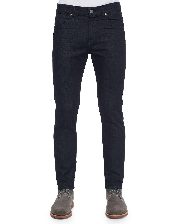 for all mankind paxtyn deep wells denim jeans in blue for men denim. Black Bedroom Furniture Sets. Home Design Ideas
