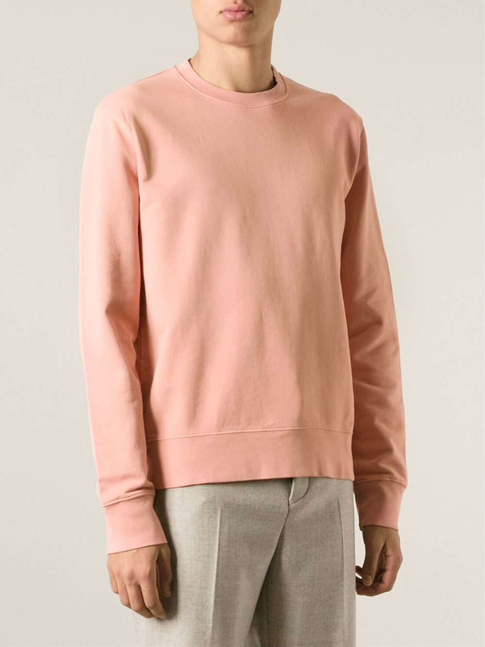Lyst - Acne Studios Casey Cotton Sweatshirt in Pink for Men