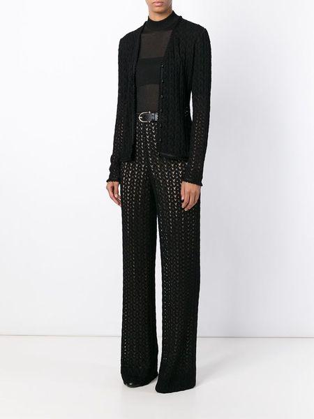 Zig Zag Sweater Knitting Pattern : Missoni zig zag pattern knit cardigan in black lyst