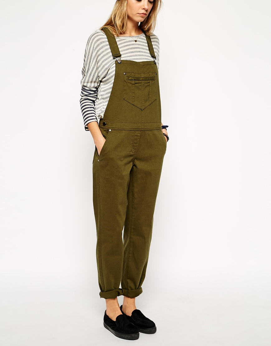 Lyst Asos 90s Style Overalls In Natural