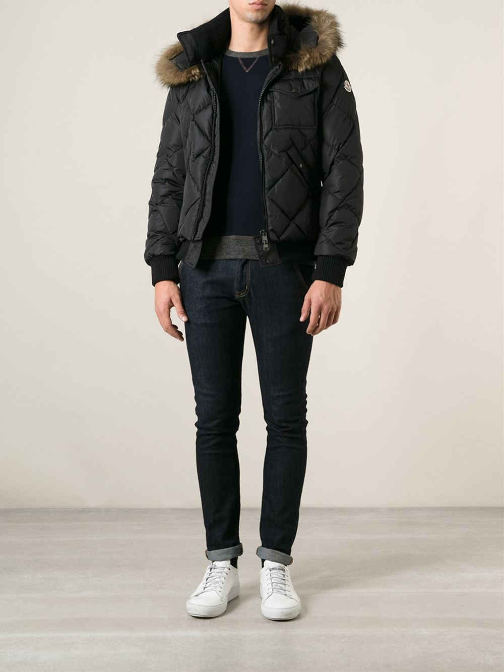49c478896 Moncler Black Harrison Padded Jacket for men