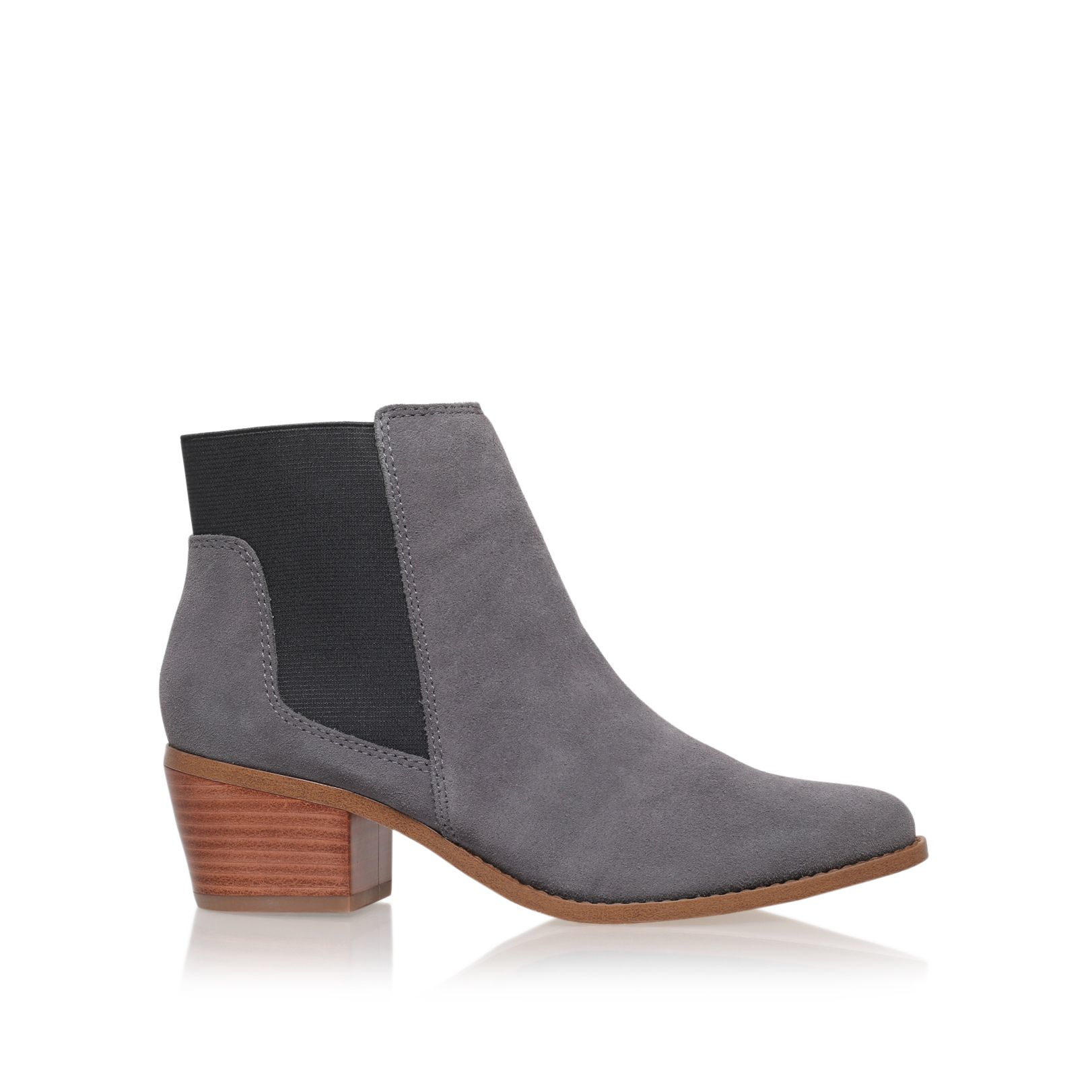 miss kg spider low block heel ankle boots in gray light