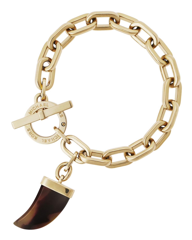 lyst michael kors tusk charm link bracelet in metallic. Black Bedroom Furniture Sets. Home Design Ideas