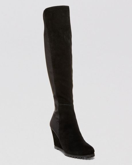 steven by steve madden wedge boots whispper stretch in