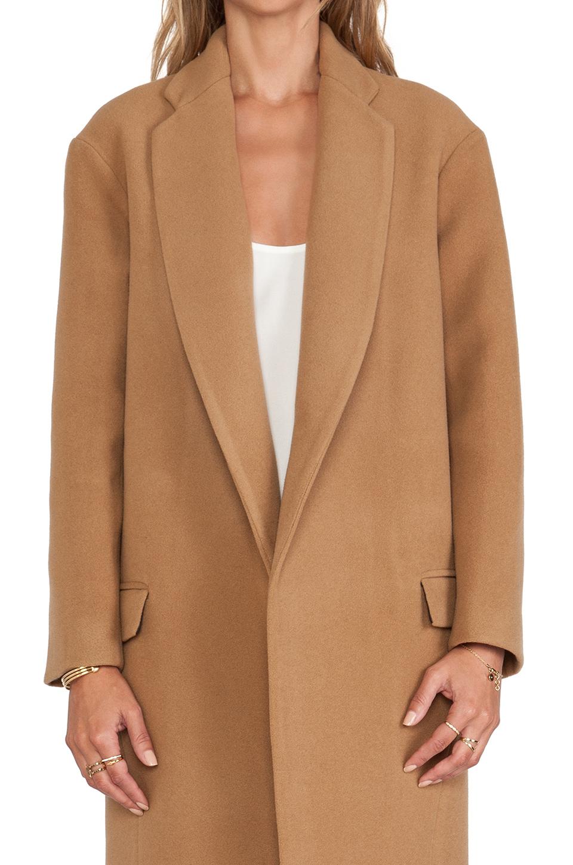 Nicholas Felted Wool Full Length Coat in Brown | Lyst