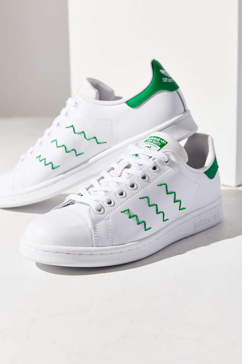 adidas Originals Leather Zig Zag Stan Smith Sneaker in White - Lyst
