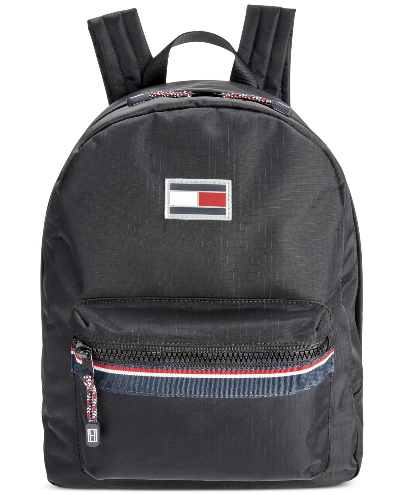 tommy hilfiger ripstop nylon backpack in black for men lyst. Black Bedroom Furniture Sets. Home Design Ideas