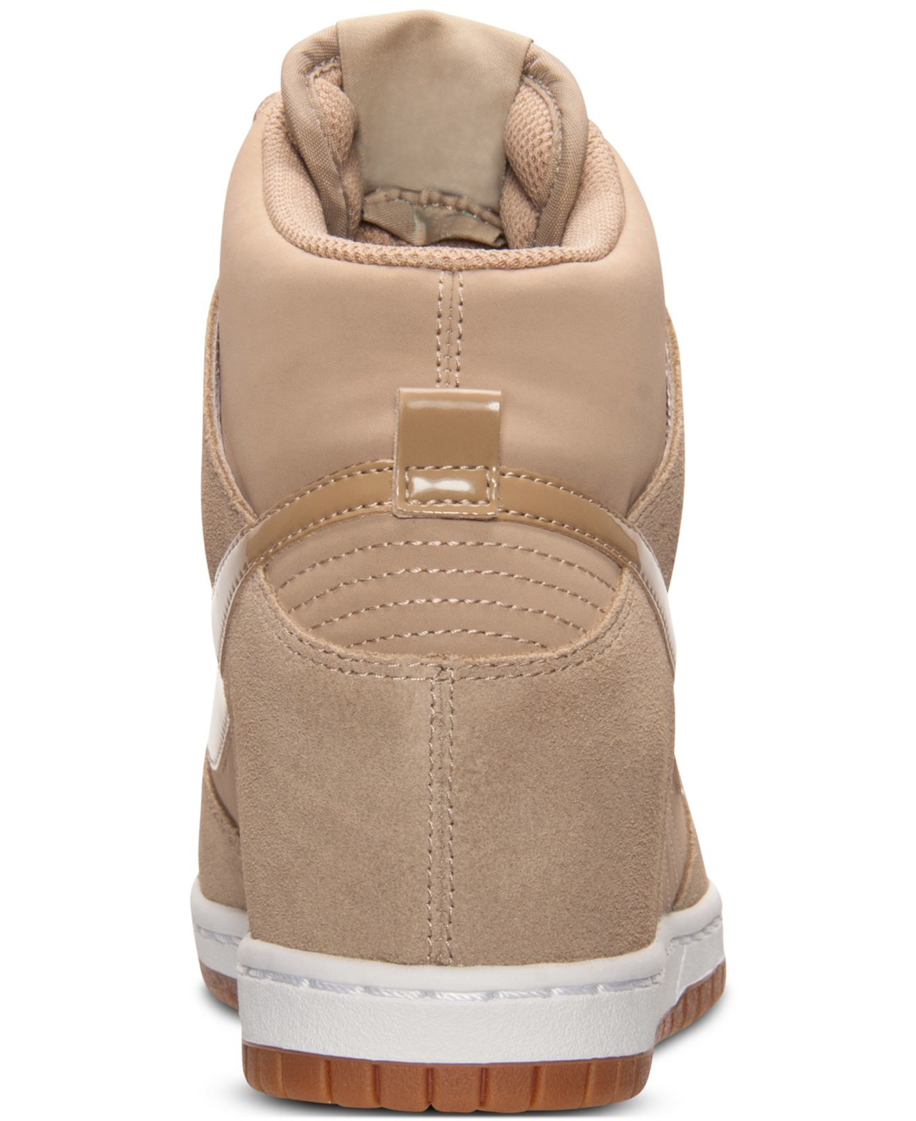 ... nike womens dunk sky hi essential casual sneakers from finish