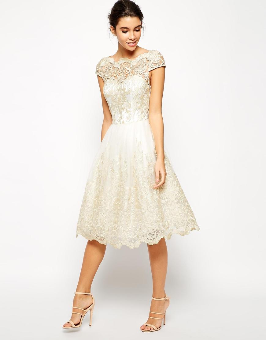 chi chi london premium metallic lace midi prom dress with. Black Bedroom Furniture Sets. Home Design Ideas