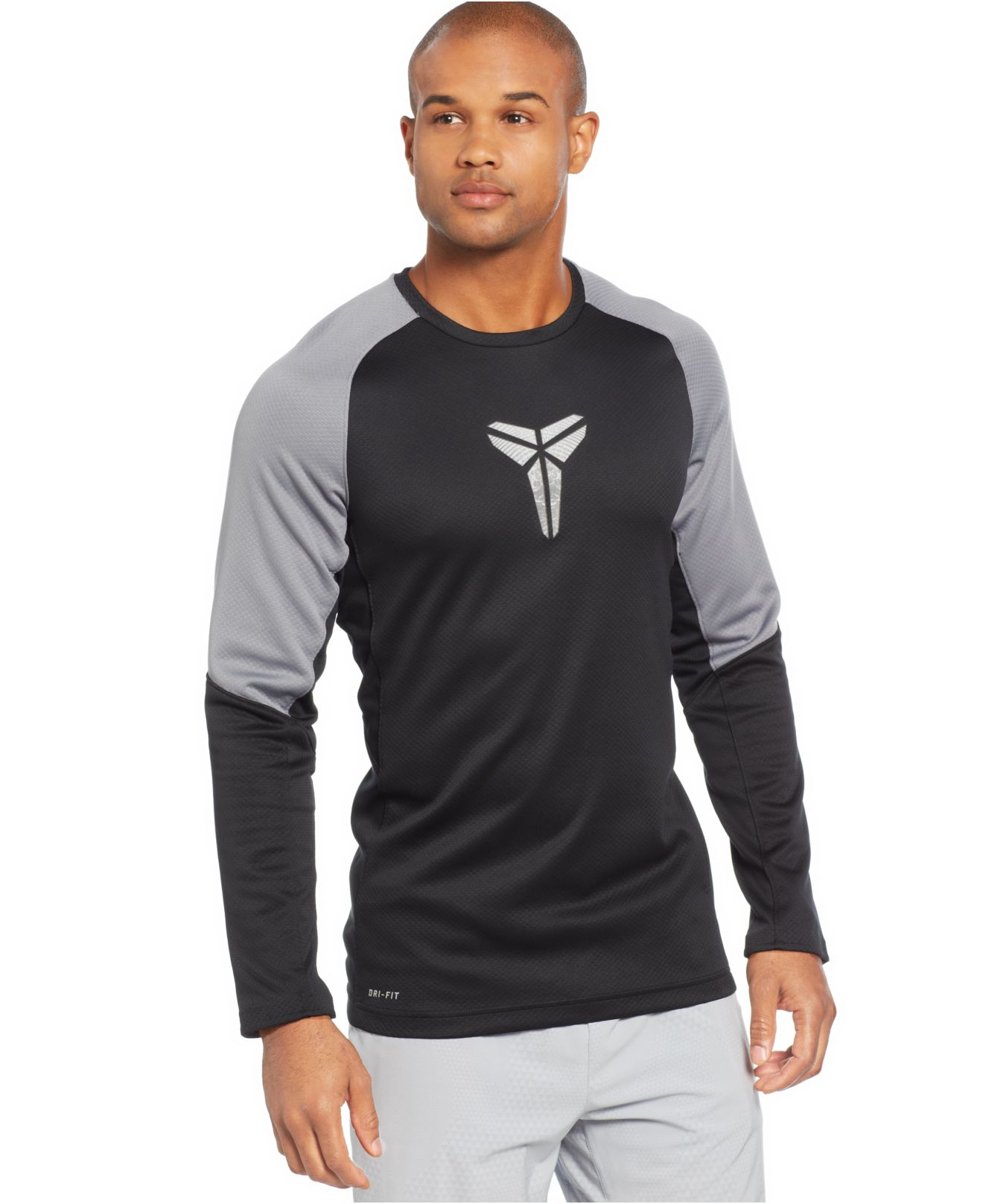 Nike Kobe Fearless Long Sleeve Dri Fit T Shirt In Gray For