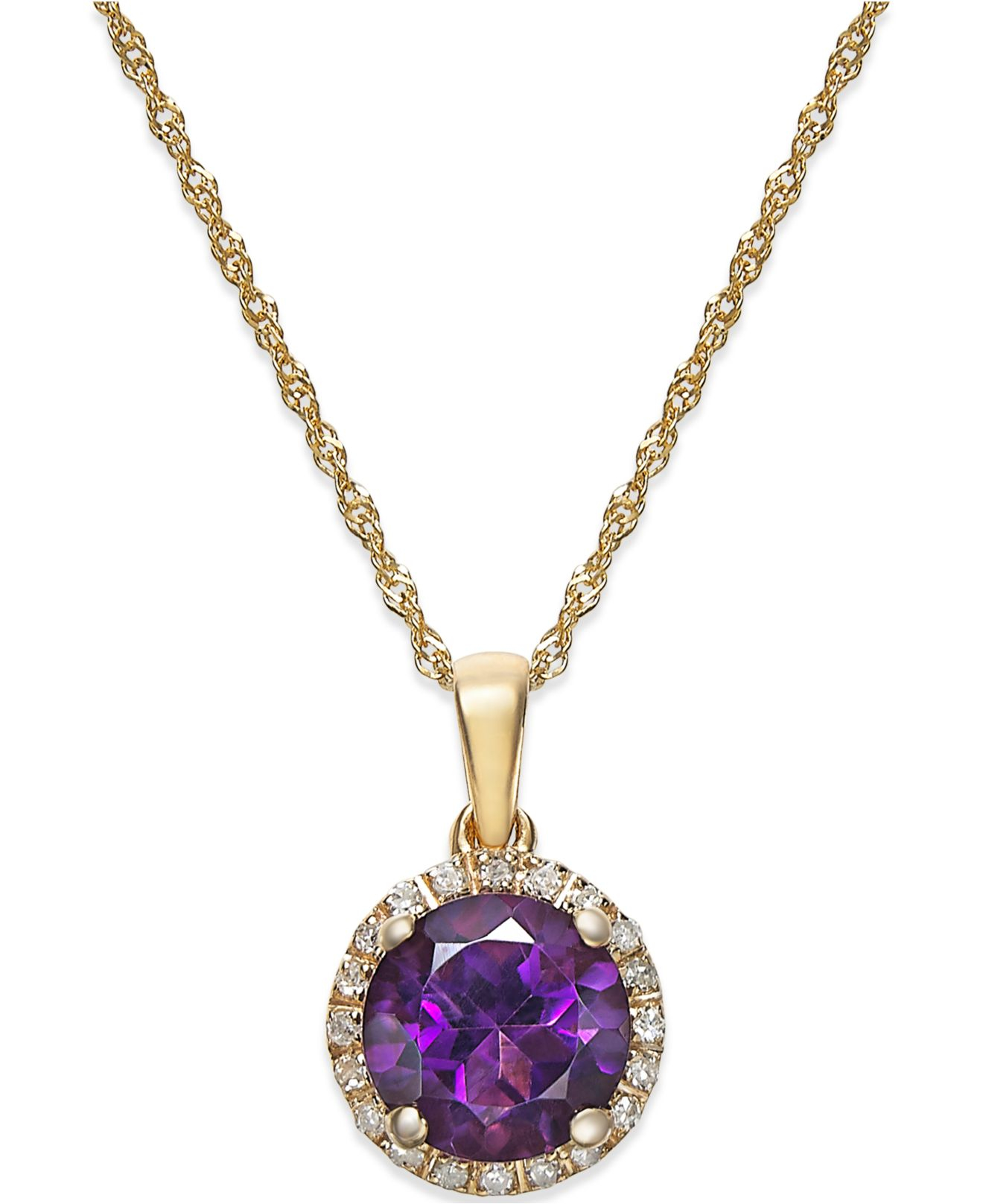 macys jewelry macy s amethyst 1 1 10 ct t w and accent 3488