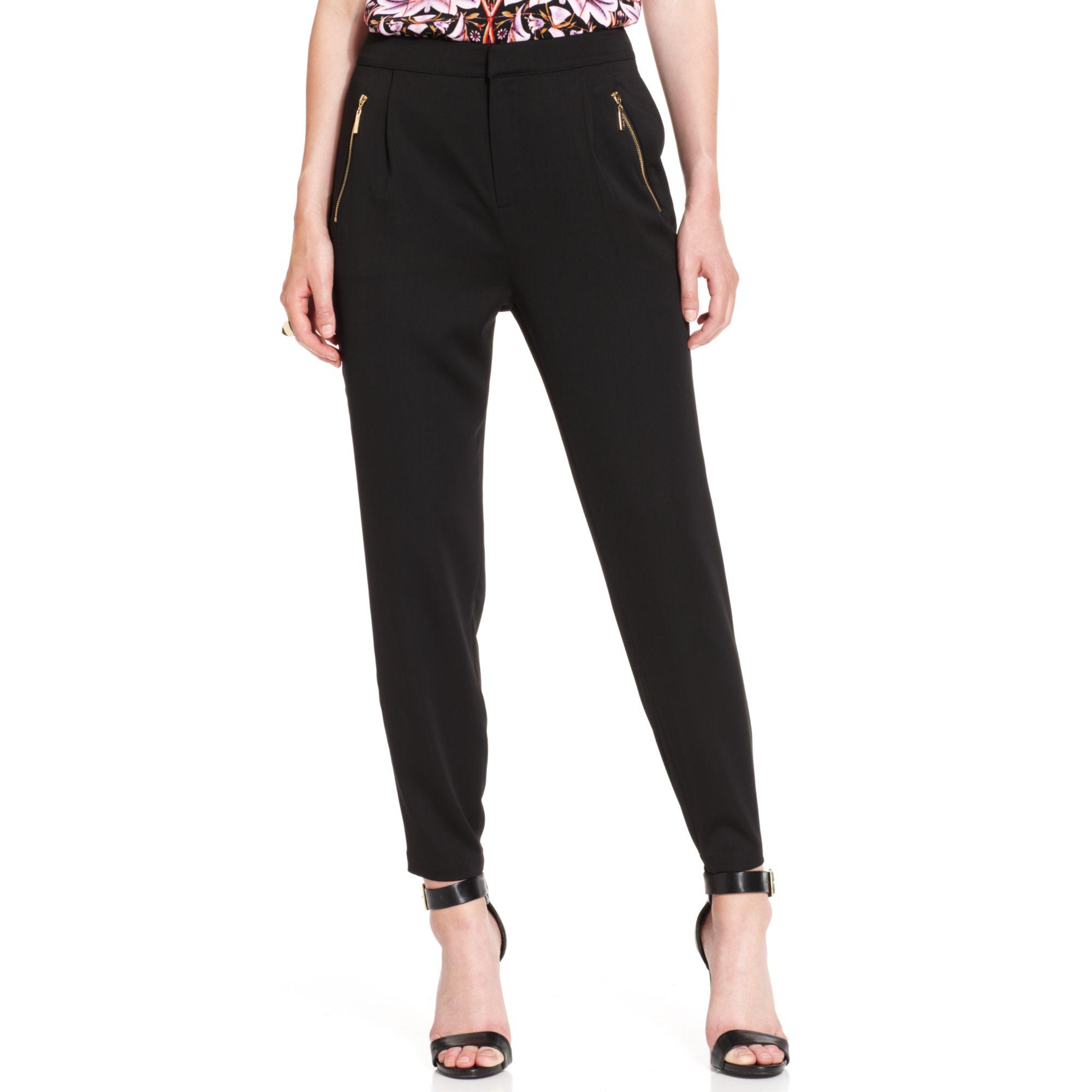Ivanka trump Tapered Soft Pants in Black | Lyst