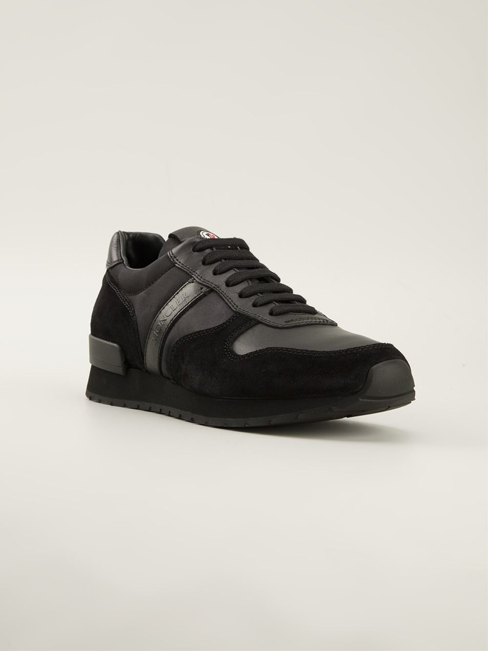moncler black trainers
