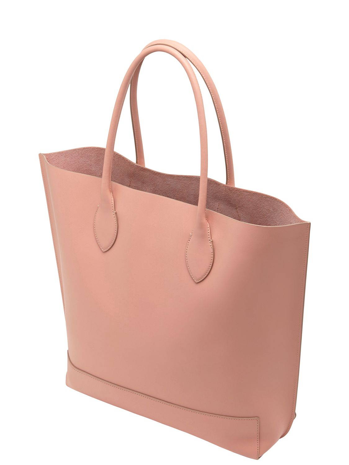 6e91ac79a8 Lyst - Mulberry Blossom Nappa Leather Tote Bag in Pink