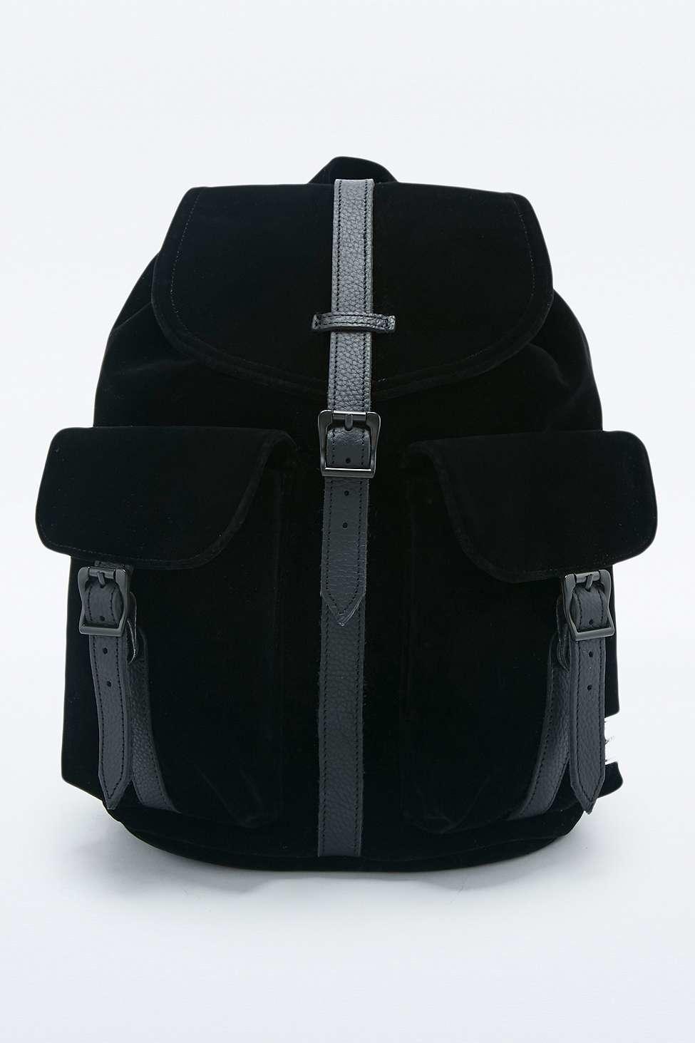 b4931dd4a75 Herschel Supply Co. Dawson Black Velvet Backpack in Black - Lyst