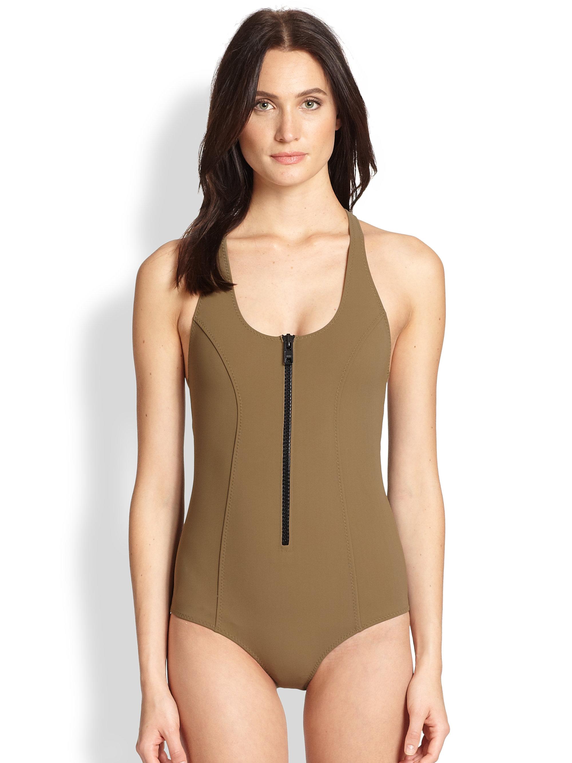 14f8e98ba5bae Lisa Marie Fernandez Elisa Maillot Bonded Onepiece Swimsuit in ...
